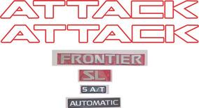 Kit Adesivo Attack Vermel+emblema Frontier Sl 5at Automatic