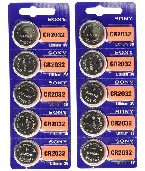 Kit 10 Baterias Sony Cr 2032 3v Lithium