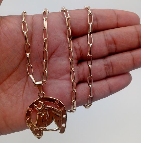 Cordão+pingente De Ouro 18k Banhada Cartier 164