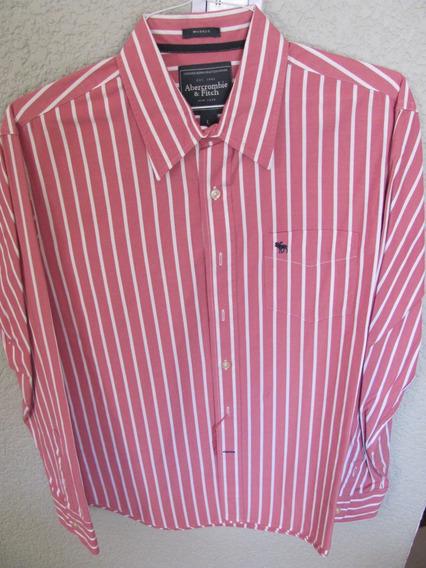Camisa Abercrombie Talla L De Rayas
