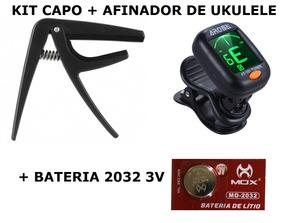 Afinador At 101 E Capo Traste Sl 07 Aroma Kit Para Ukulele