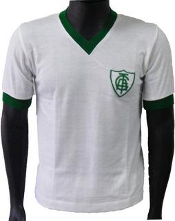 Camisa Retrô América Mineiro 1990 Branca ( Manga Longa )