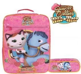 Mochila Sheriff Callie 30465 + Estojo Duplo Original