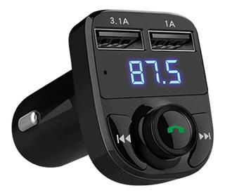 Transmisor Bluetooth Fm Dual Usb Manos Libres V 4.1 Carro Mu