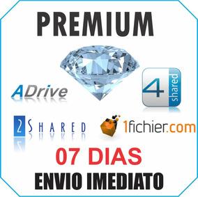 1fichier 2shared 4shared Adrive Conta Premium Envio Agora