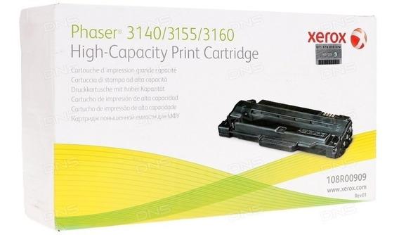 Cartucho De Toner Preto Xerox 3140/3155/3160 - 108r00909