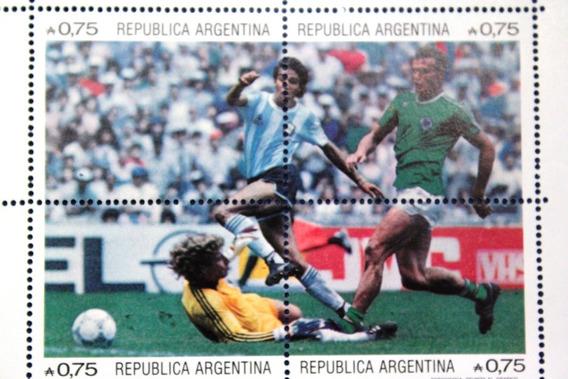 Argentina 2 Bloques Campeon Copa Mundial Futbol Mexico 1986