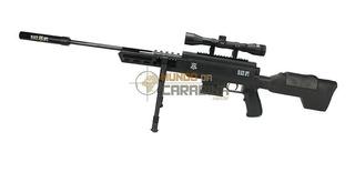 Carabina De Pressão Sniper Black Ops Cal 5,5mm Pistão
