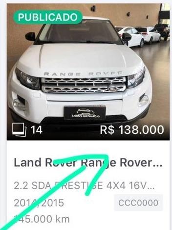 Land Rover Range Rover Evoque Cabrio Disel Segundo Dono