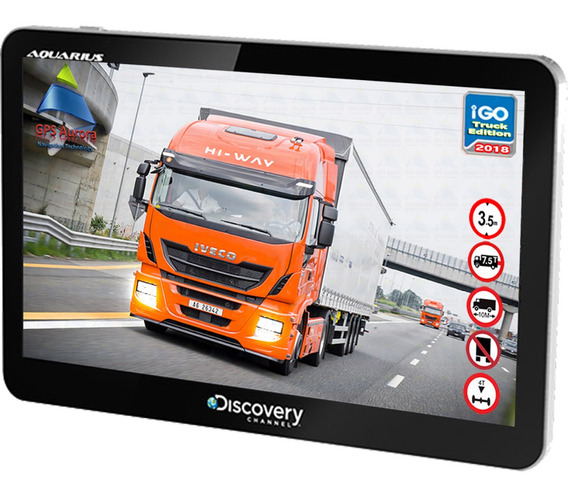 Gps Discovery Aquarius 4.3 Com Tv Digital + Igo Truck 2019
