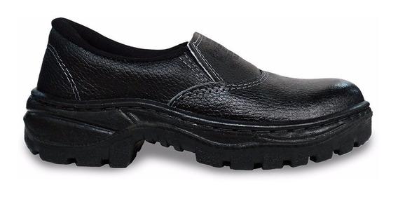 Kit 2 Sapato Segurança Cartom R16 Pu Md Elastico 34 Ao 44