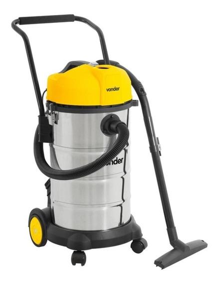 Aspirador Vonder APV 1240 40L aço inoxidável, amarelo e preto 110V