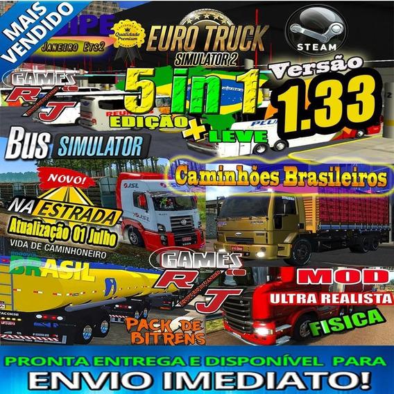 Pack De Mods Euro Truck Simulator 2 Pc + Brinde