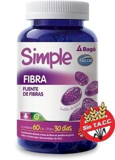 Simple Fibra 60 Pastillas Tránsito Intestinal