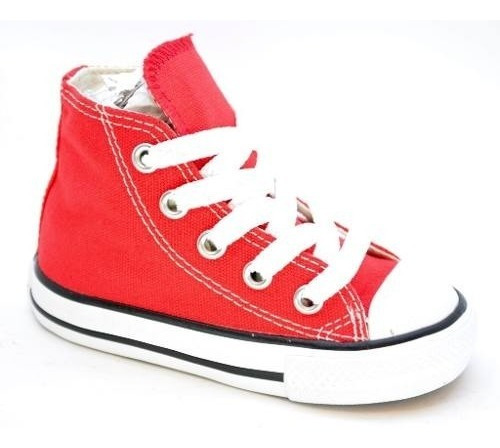 Zapatillas Botitas Converse Ct All Star Hi Jr Bebes Rojo