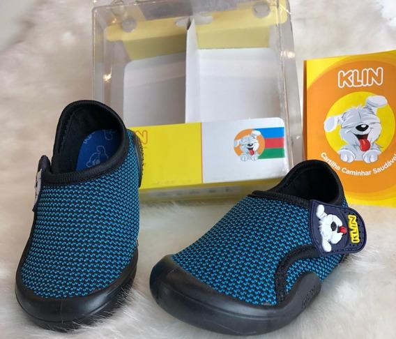 Sapato Papete Infantil Criança New Confort Klin Menino - 16400