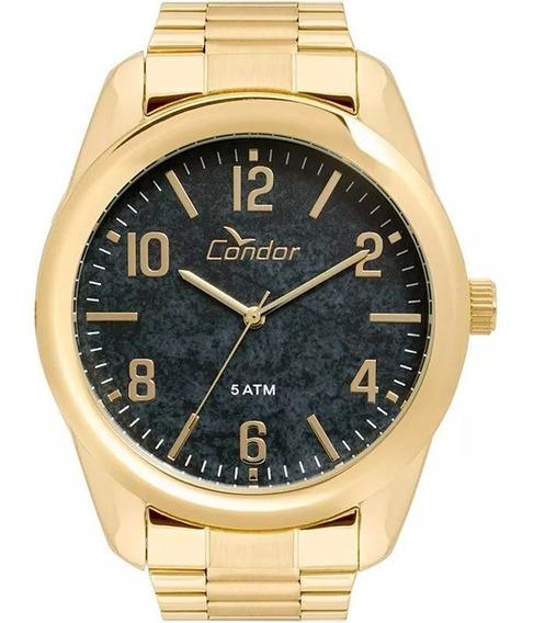 Relógio Masculino Condor Dourado Banhado A Ouro Originalco2036kty/4p