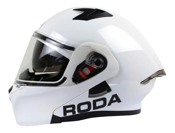 Casco Roda Rush Blanco Abatible Gafas Certificacion Dot