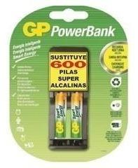 Pilas O Baterias Recargables Aaa Gp 400 Mah Con Cargador