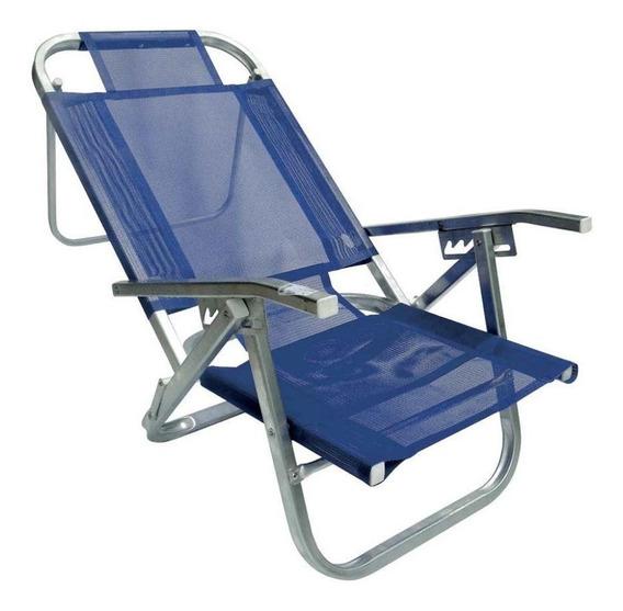 Cadeira De Praia Copacabana Reclinável 5 Posições Alumínio