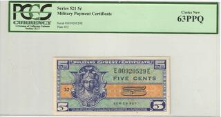 Cedula Militar 5 Cents Estados Unidos Encapsulada Ce012