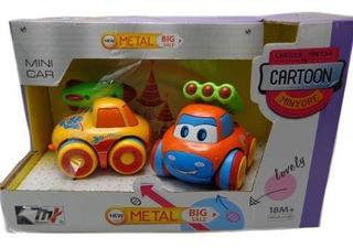 Set Mini Autos Locos De Metal Para Nenes Original