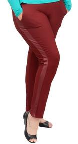 Roupa Feminina Calça Skinny Detalhe Cirre Plus Size Cós Alto