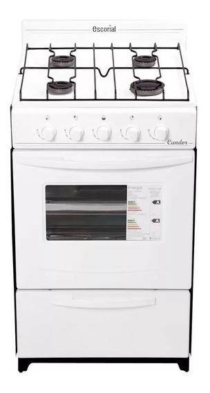 Cocina Escorial Candor - 51 Cm - Gas Natural - Blanca