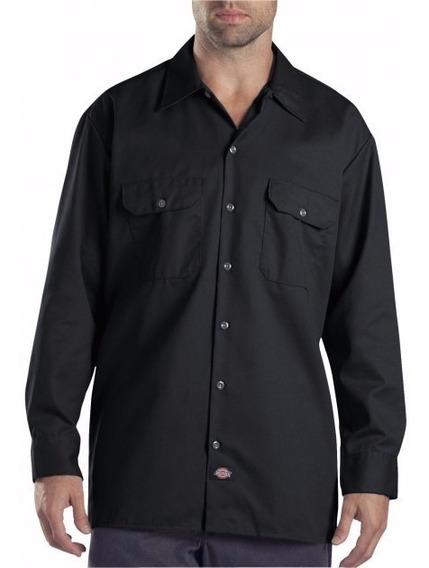 Camisa Negra Cantidad 100 Unidades Tela Gabardina Para Traba