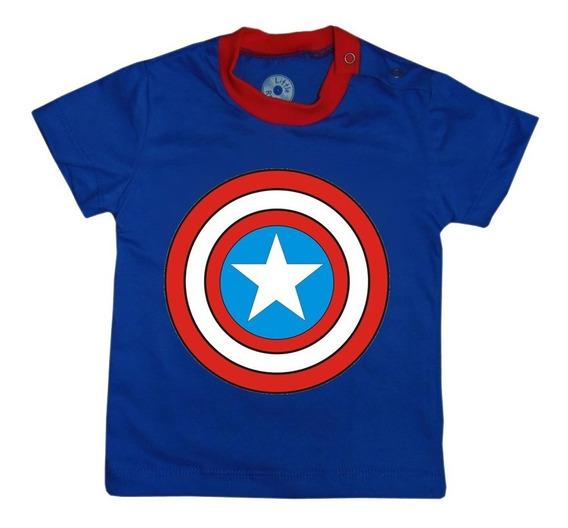 Camiseta Infantil Capitão América Vingadores