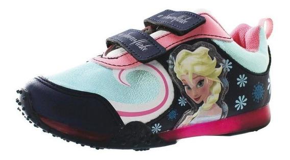 Calzado Kids Niña Tenis Casual Disney Frozen Elsa Azul Cómod