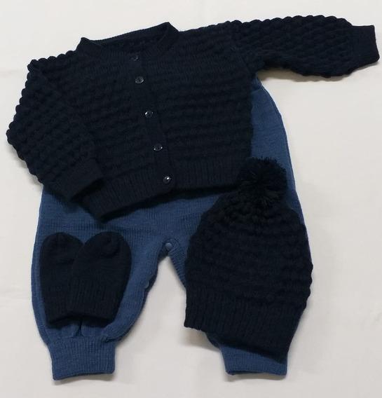 Conjunto Rn Com Casaco,calça, Touca E Luvinhas