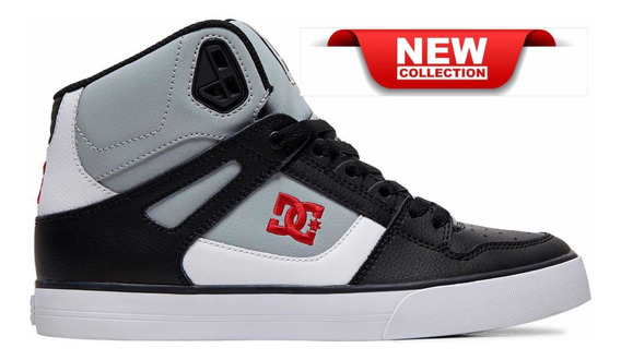 Dc Pure High Top Wc Grey Black Red