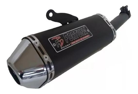 Escapamento F1 Mini Tri Fortuna Moto Yamaha Crypton 115