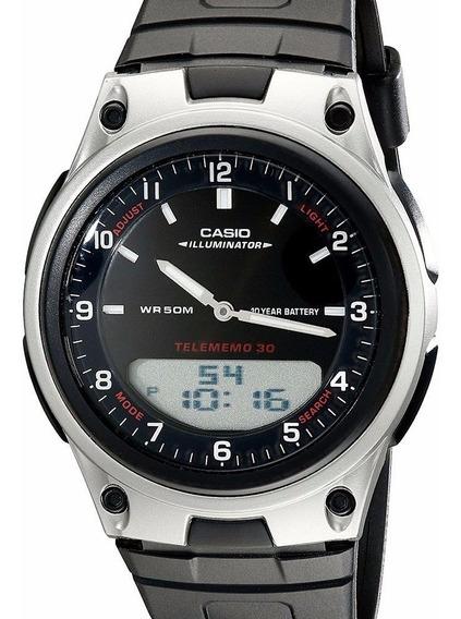 Relógio Casio Masculino Anadigi Hora Mundial - Aw-80-1avdf
