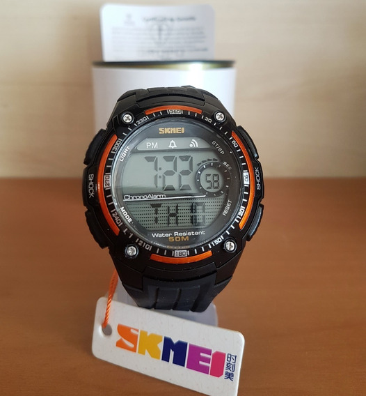 Relógio Skmei 1203 Black/orange Original - Frete Grátis - Sport Series Tático Militar Outdoor - Super Promoção