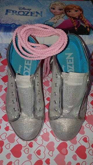 Zapatillas Disney Frozen Plata Niñas Nº34