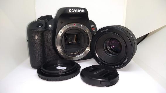 Canon Eos Rebel T5i + Lente 50mm Canon Original