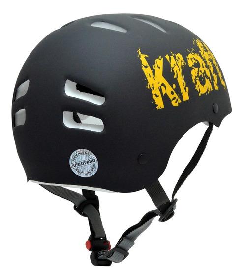 Capacete Kraft Bike Preto G Skate Patins Roller - Nbr16175