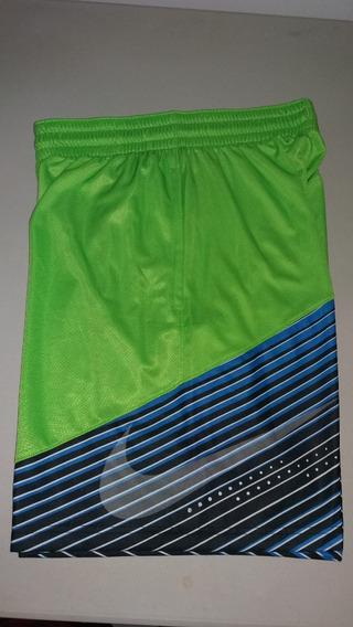 Pantaloneta Basketball Nike Elite Color Verde-azul Talla M