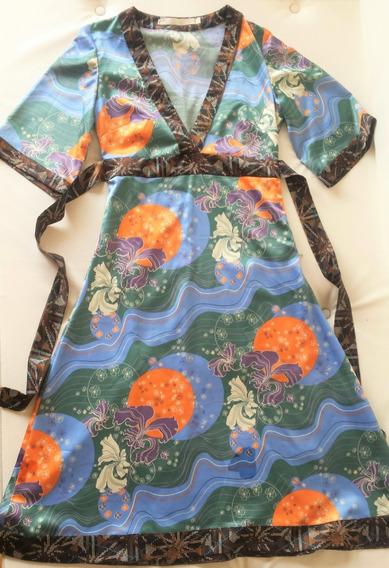 Vestido Midi Tipo Kimono Mariana Marquez Como Nuevo! No Zara