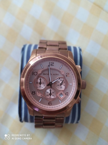 Relógio Michael Kors Rose Mk8096 100% Original Analógico Aço