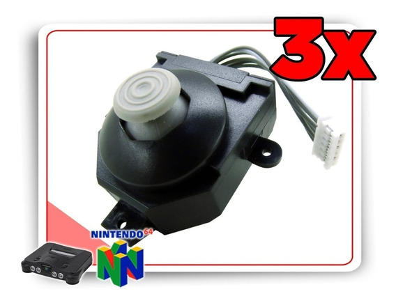 Kit 3 Analogicos Para Controle Nintendo 64 Estilo Gamecube