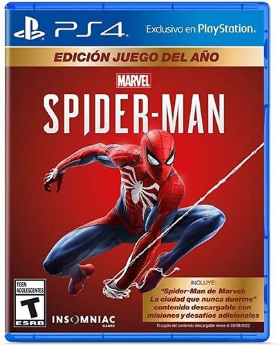 Spiderman Edicion Juego Del Año - Ps4 Fisico Nuevo & Sellado