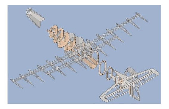 Planta Aeromodelo Tucano 120