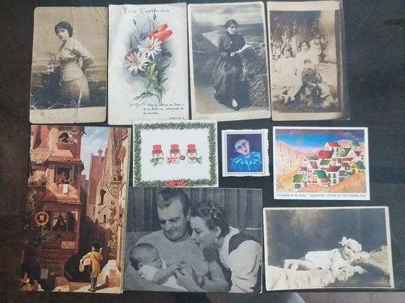 Postales Antiguas Lote De 37 Unidades
