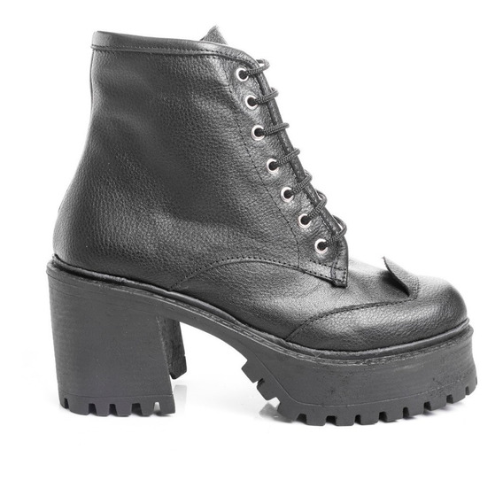 Botas Botitas Borcegos Zapatos Mujer Cuero Botinetas Moda