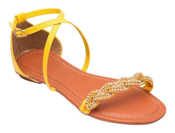 Sandalia Feminina Adulto Rasteira Tipo Moleca Prn Sapatos
