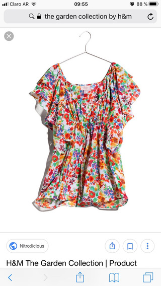 Remera H&m The Spring Collection Talle M Gasa
