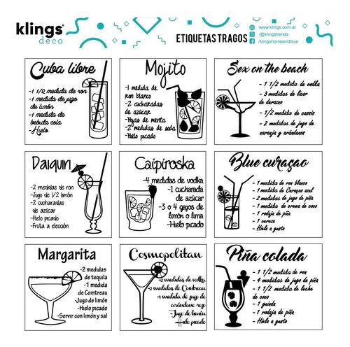 Etiquetas Para Frascos Botellas Frases Transparente Tragos